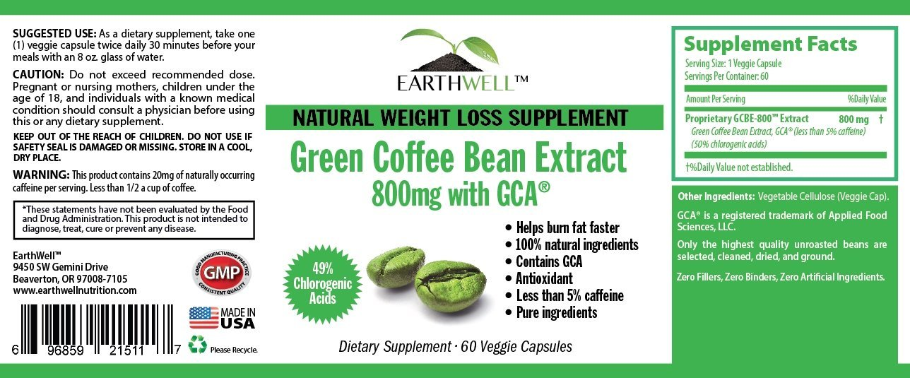 Weightlossbna Green Coffee Bean Extract Pure With Gca Natural