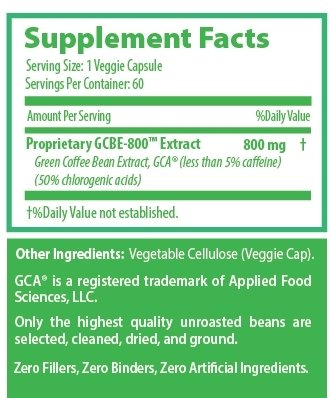 Earthwell Green Coffee Bean Extract 800mg