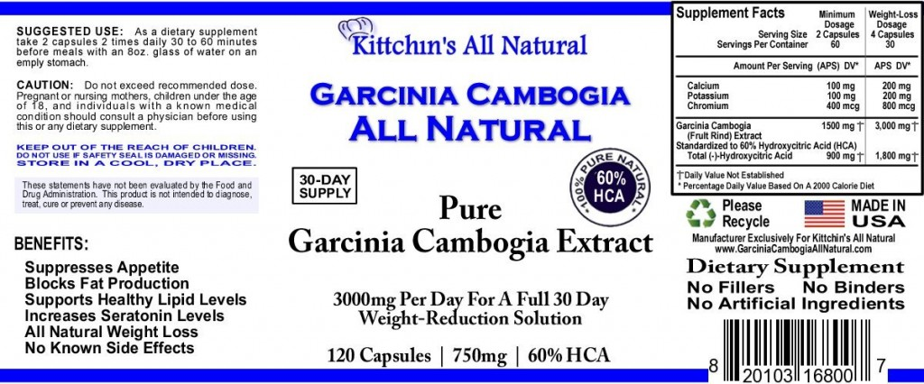 Garcinia Cambogia All Natural 1500 mg