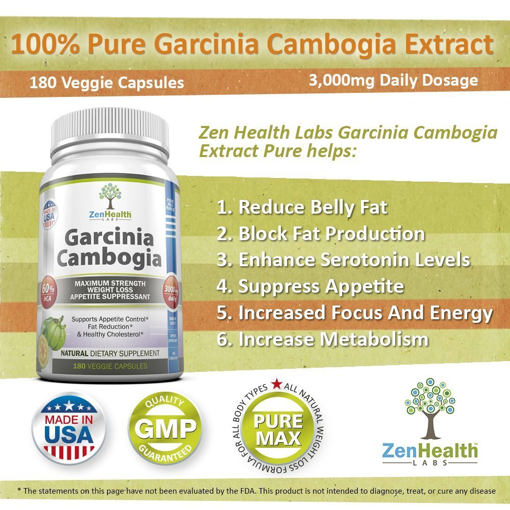 Garcinia Cambogia Extract Pure Max 3000mg