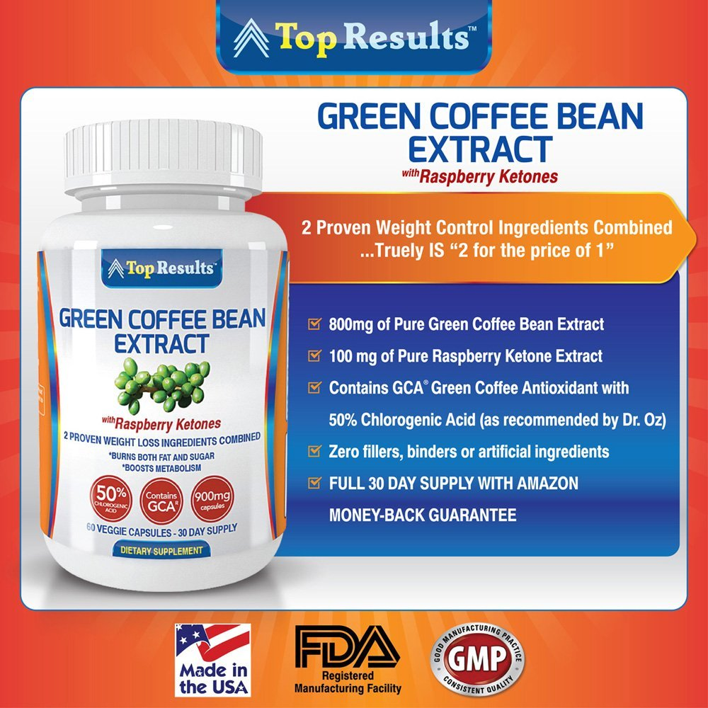 Pure Green Coffee Bean Extract 800mg Pills Dr Oz Recommended 2 No Acid Coffee What Is Green Coffee Bean Extract