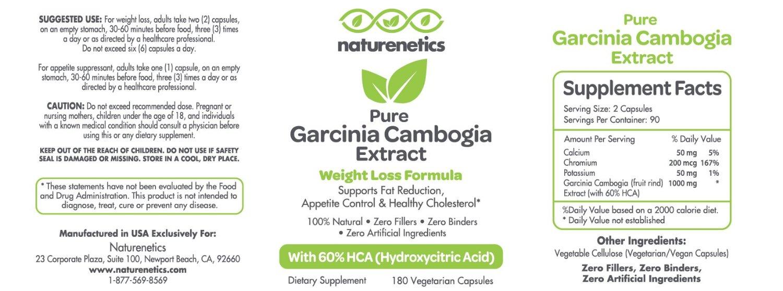 Ultra Premium Natural Garcinia Cambogia 1500mg to 3000mg